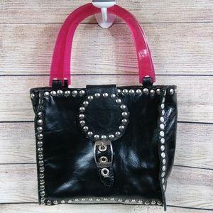 Porkchop Bags - Porkchop | Studded Hard-Bottomed Leather Handbag